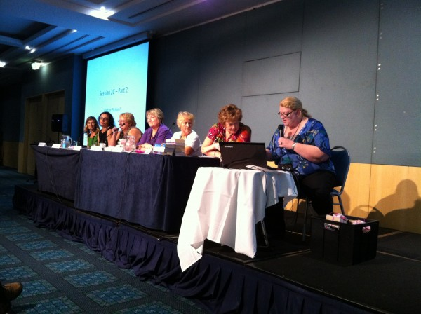 Historical Author panel--the serious business of the convention.